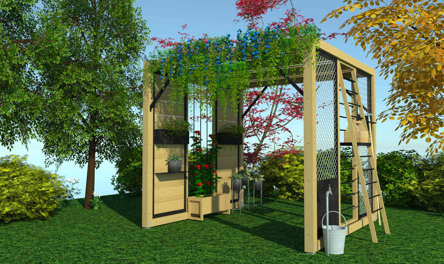 Cabane dans le jardin d'A-Autrement